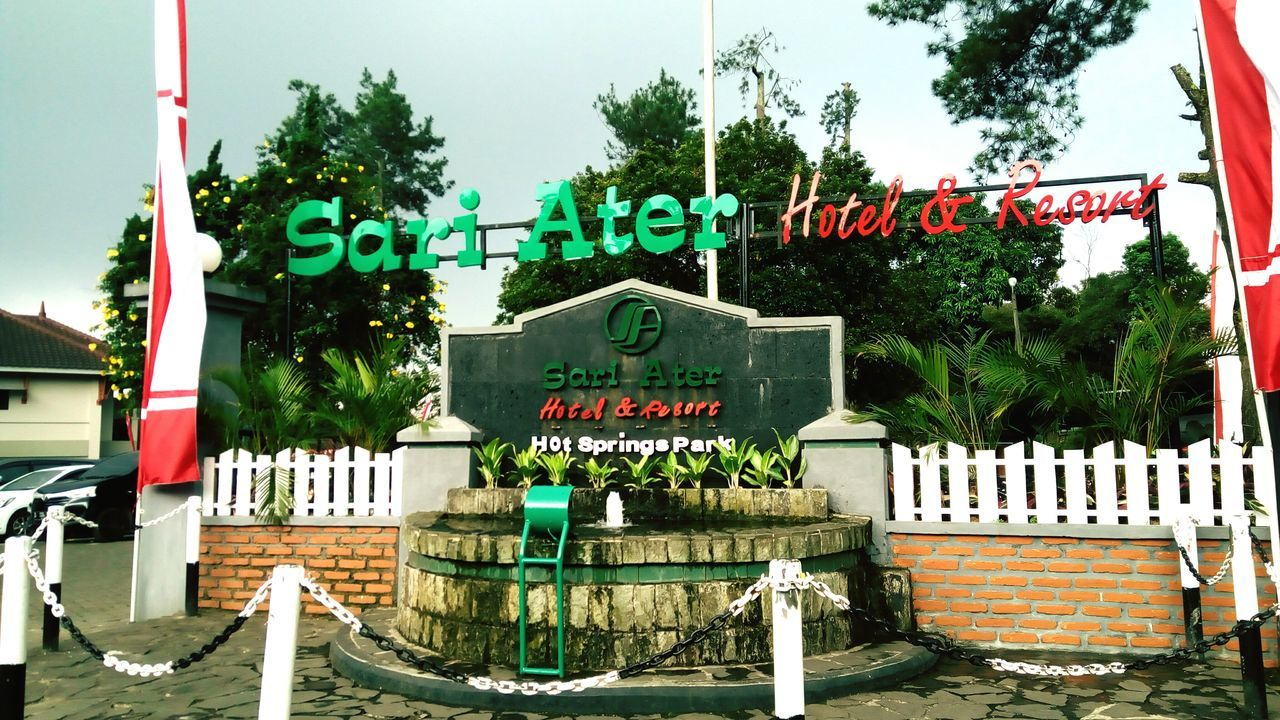 sariater hotel dan resort TreeSariatersubang Text Day Outdoors Architecture Built Structure No People Building Exterior Sky