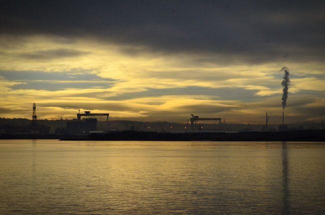 Skyline Cityskyline Sea And Sky Water Reflections Docks Nikon Belfast Nikon D7000