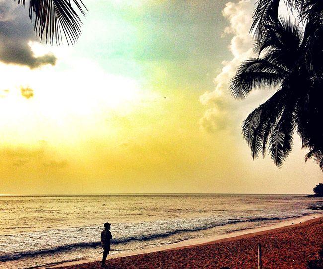 Menjelang sore... Sunset Beach Silhouette Anyer  Nature Enjoying The Sunset Exploreindonesia Ve_2302