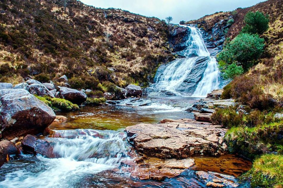 Roadsidegems 🌱 Water Waterfall River Nature Beauty In Nature Scenics Motion Long Exposure Landscape Natural Beauty Adventure Travel Photography Scotlandsbeauty Scotland Ilseofskye Intothewild Landscape_captures