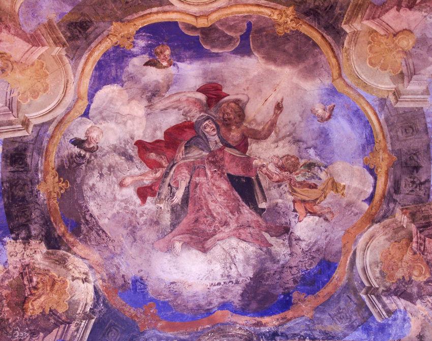 Church Ecstasy Of Saint Teresa Pain Ukraine Baroque Carmelitas Carmelite Ecstasy Fresco Lviv Pedretti Religion Saint John Of The Cross Saint Michael Church Saint Teresa Of Jesus San Juan De La Cruz Santa Teresa