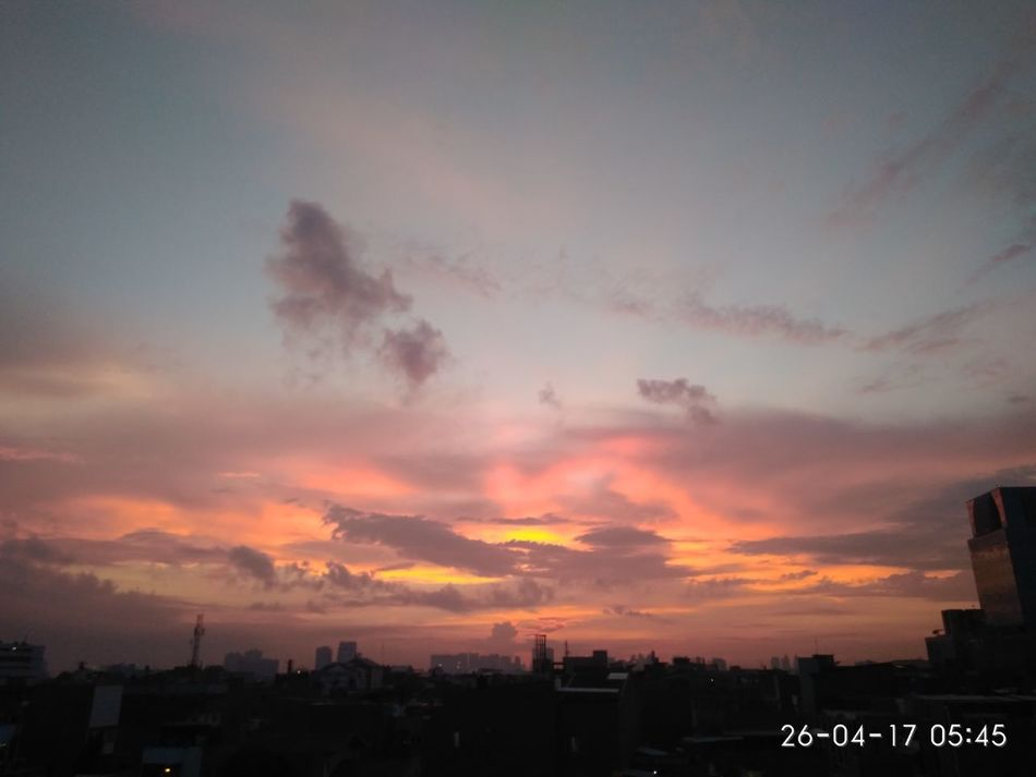 Morning View sky Nature Sky Urban Skyline City Jakarta Indonesia 5:20am Nofilternoedit Day Good Morning
