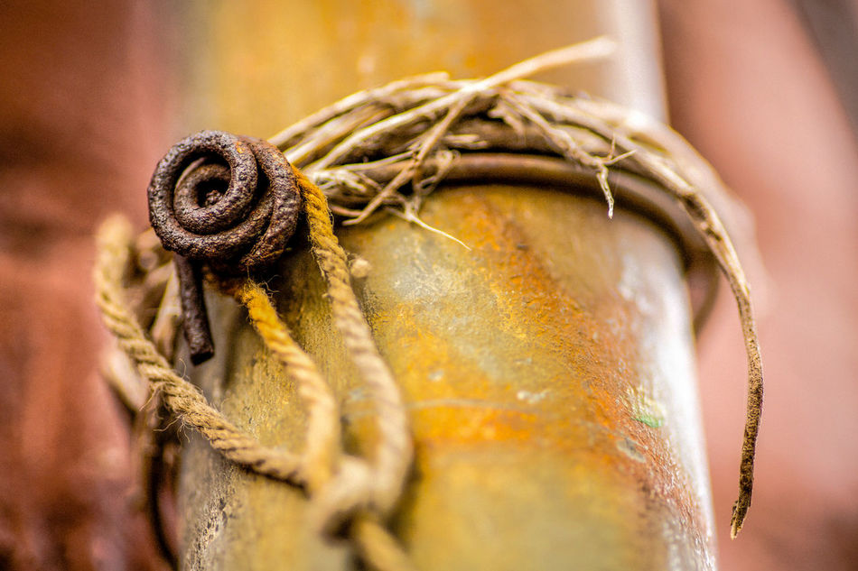 Brown Color Close-up Day Detail No People Orange Color Outdoors Rust Twine, Cord, Yarn, Thread, Strand, String Weathered Weathered Metal