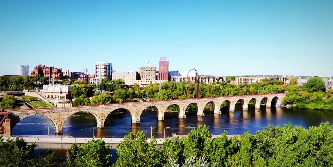 Minnesota Cityscape Travel Destinations Minnesota Nature Minneapolis Bridge - Man Made Structure Architecture Urban Skyline River Outdoors Clear Sky Minneapolis Minnesota Minnesota💙 Bestsellers 2017 Vacations Aesthetics Artsy Views Travel Cityscape High Angle View Bestsellers Nature Beauty In Nature City