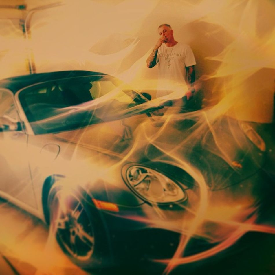Mr .maniac with Smokey Porsche . Boxster Rap Artists Unsigned Coolpics Dailyfeature Denton Grapevine Green Smokers