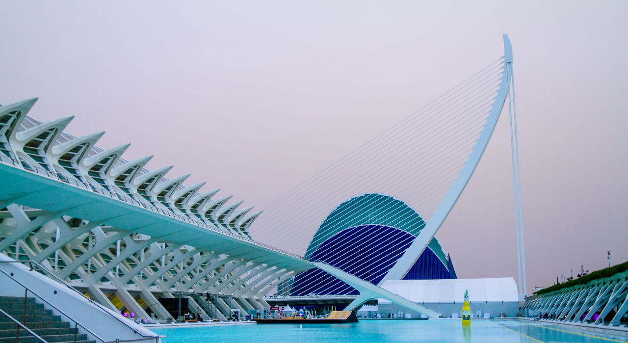 Architecture Architecture Bluehour Cityofartsandsciences No People Outdoors Sky SPAIN Valencia, Spain Water