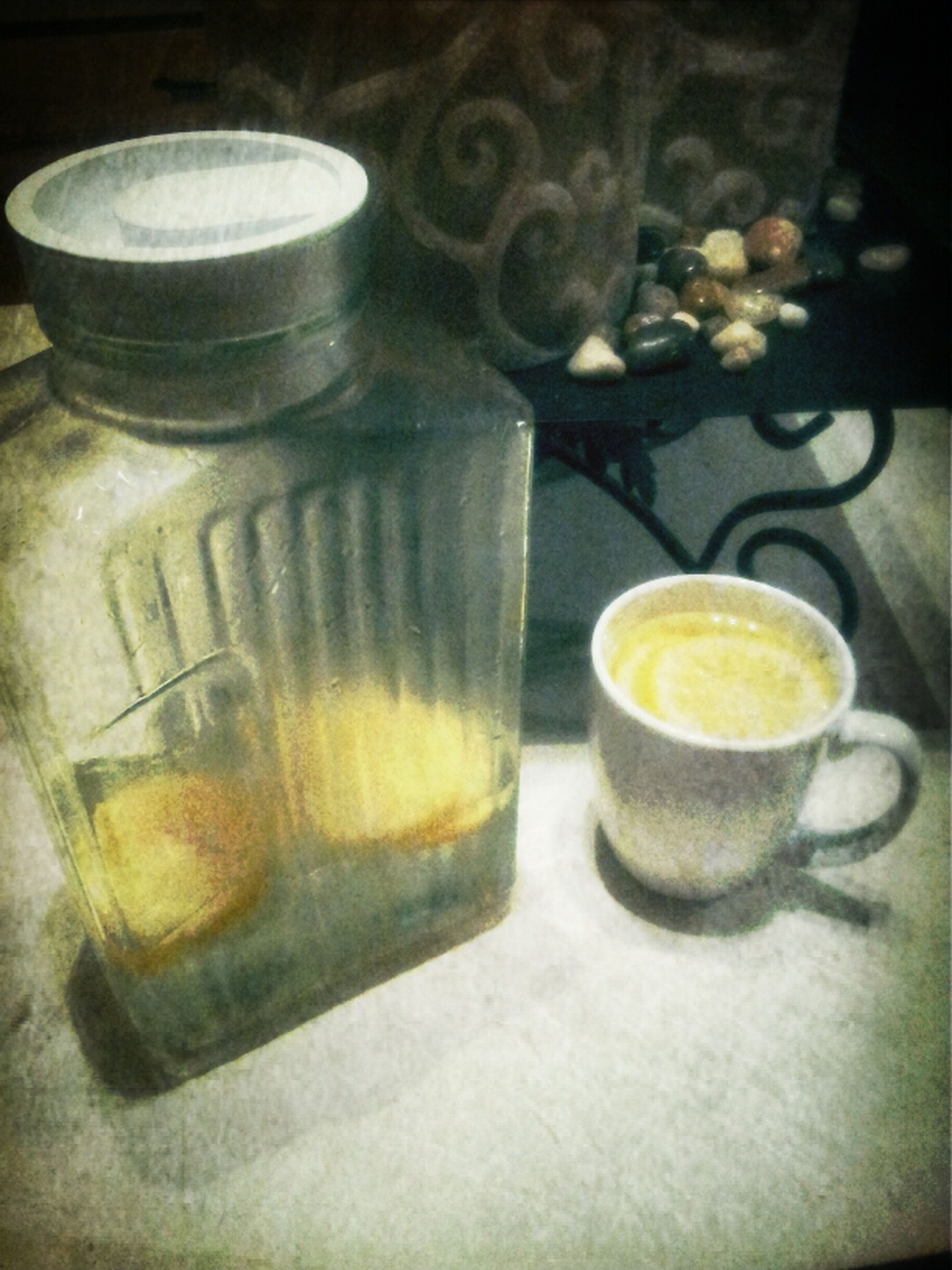 Enjoying my warm lemon water!!! These natural remedies are really working!!!!! Amen!!! :)
