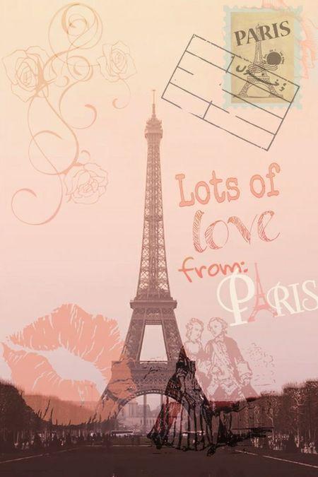 Picsart Paris Eiffeltower Romantic Love Postcard Valentine