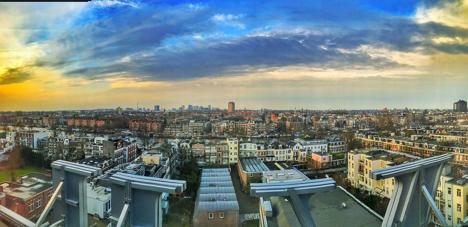 Amsterdam Amsterdamcity Architecture Beautiful City City City Life Citylife Cityscape Cloud Cloud - Sky High Angle View Holland Iamamsterdam Netherlands Niederlande No People Panoramic Residential District Sky