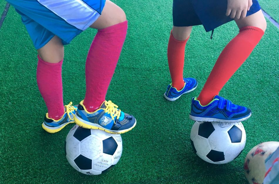 Up Close Street Photography Football Soccer Soccer Ball Colors Colorful Socks Balls Rubber Shoes Football Fever Colour Of Life