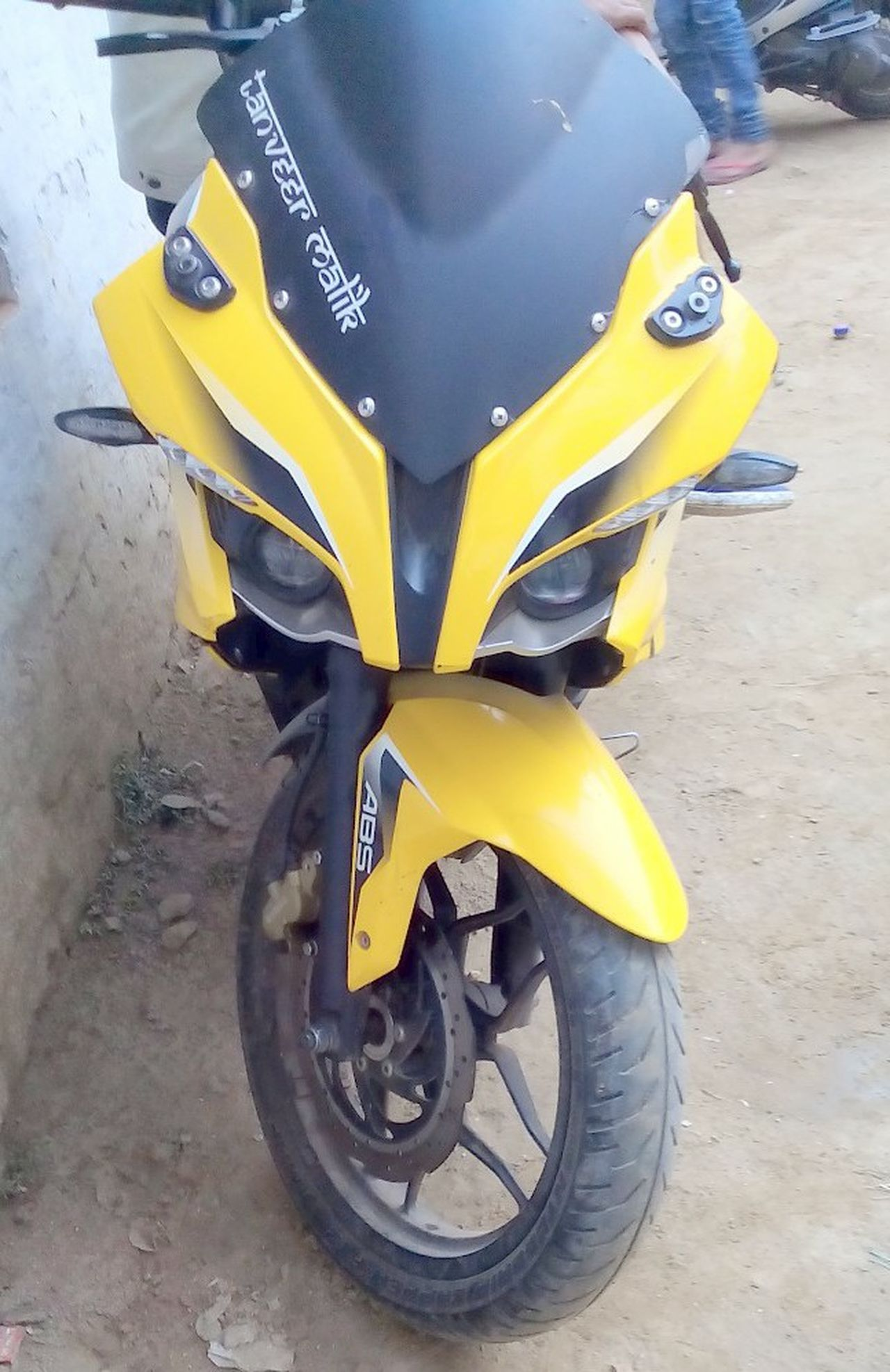 Bajaj my pulsar a month old my girlfriend