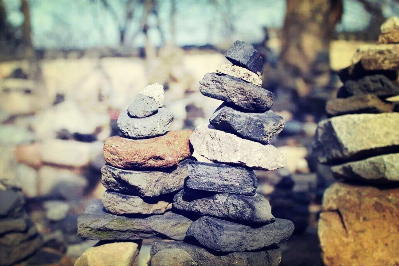 불국사에 한켠에 쌓여져 있던 돌탑들.
