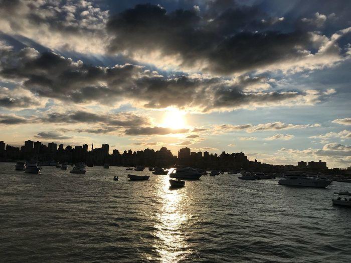 Alexandria, Egypt Egypt Alexandria Sunset Water Sky Waterfront Nautical Vessel Scenics first eyeem photo