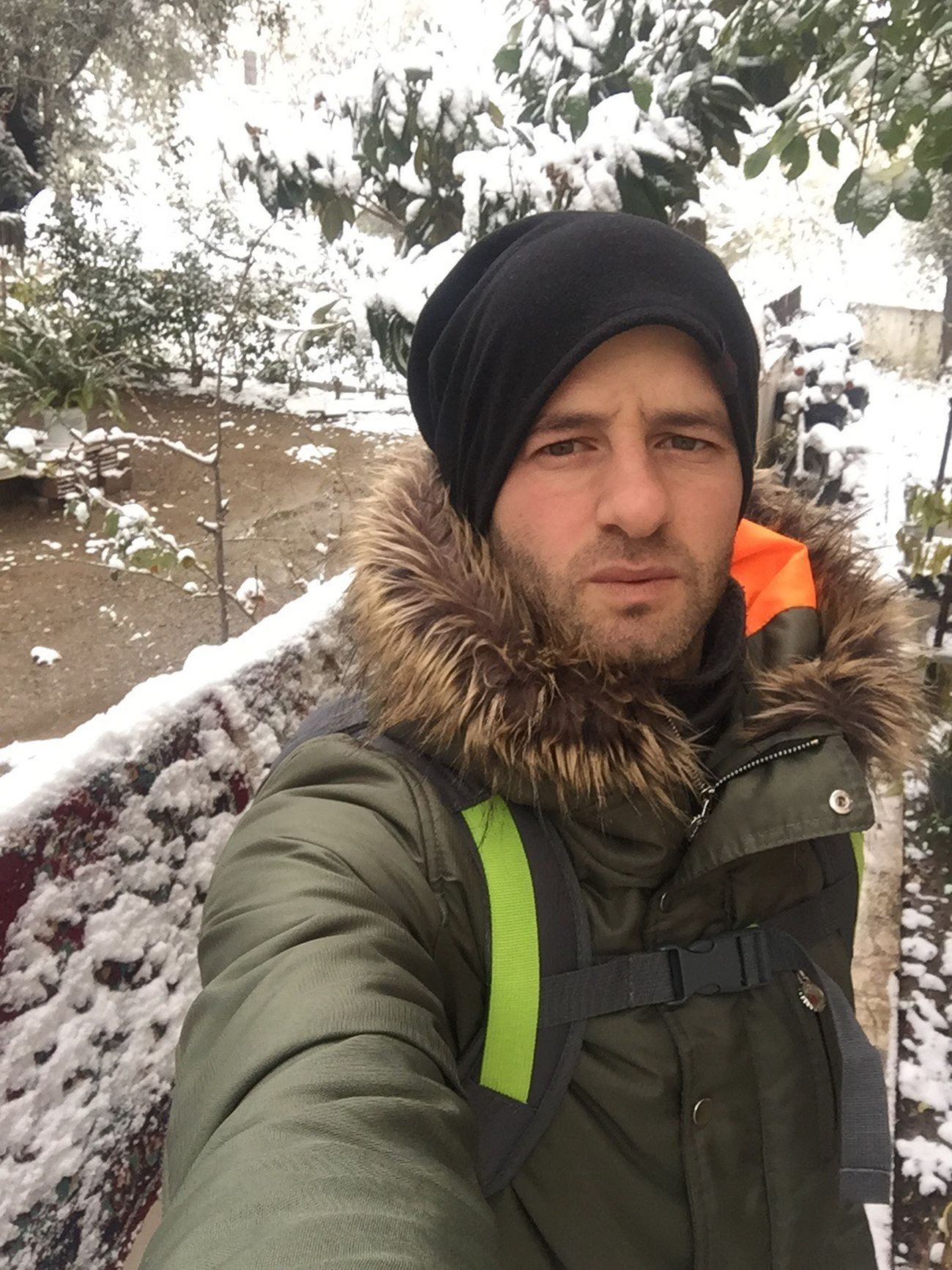 Outdoors Cold Temperature Winter Looking At Camera Snow Warm Clothing Beard Sky Nature Doğa One Person Leisure Activity Lifestyles Knit Hat Only Men Tree Men Young Adult Day Close-up Adults Only One Man Only