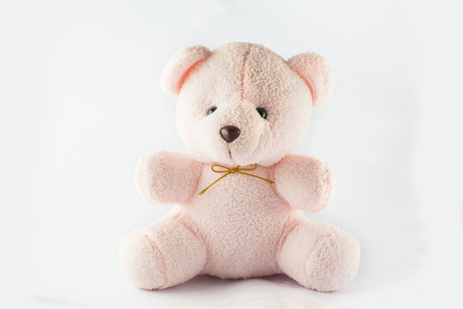 Pink teddy bear Bandage Bear Childhood Decoration Doll Fur Isolated Pink Sitting Small Soft Softness Stuffed Stuffed Toy Teddy Bear Toy