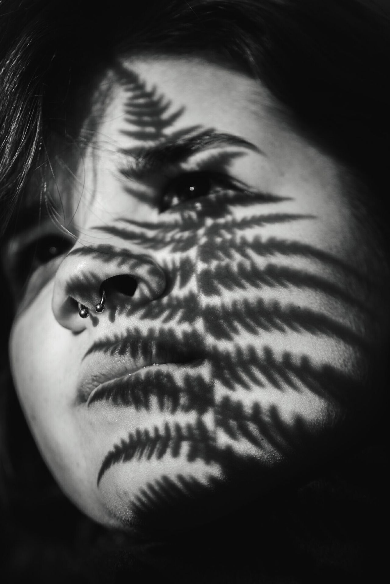 ~ Infinite Thoughts ~ The Portraitist - 2017 EyeEm Awards Human Face Portrait Headshot One Person Human Body Part Young Adult Black Background Day Close-up Beauty In Nature Natural Beauty Ferns Plant Getting Inspired Light And Shadow Blackandwhite Outdoors Shadow Nature Perspective Communication Moment Of Zen Lines And Shapes Monochrome