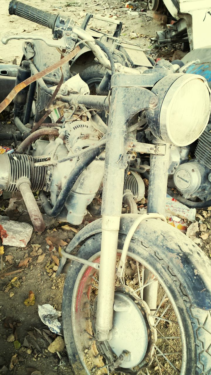 Close-Up Of Old Motorcycle