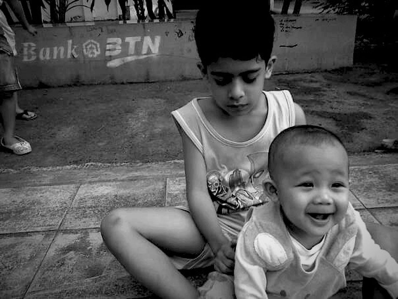 Blackandwhite Two People Females Archival Baby Childhood People Human Body Part Togetherness Outdoors Adult Day Bnw Black And White EyeEm Best Shots - Black + White Monochrome Monochrome Photography EyeEm Bnw IPhoneography Smartphonephotography People Photography People Watching Mobilephotography EyeEm Gallery EyeEm