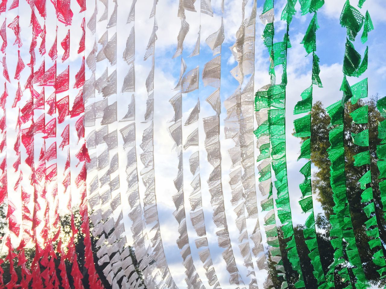 Full Frame Backgrounds No People Pattern Close-up Day Variation Multi Colored Outdoors Italy Ireland Mexico Flag
