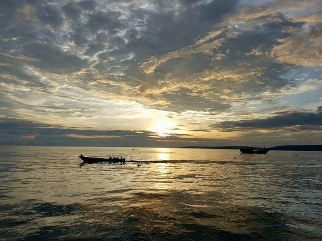 Nautical Vessel Transportation Water Boat Mode Of Transport Sunset Sea Scenics Calm Horizon Over Water Sky Ocean Tranquil Scene Waterfront Cloud - Sky Non-urban Scene Biak Papua Indonesia
