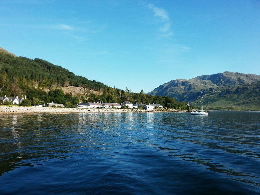 West Coast Scotland Scenic View Inverie Seascape Landscape Remote Village Peaceful Place Blue Wave