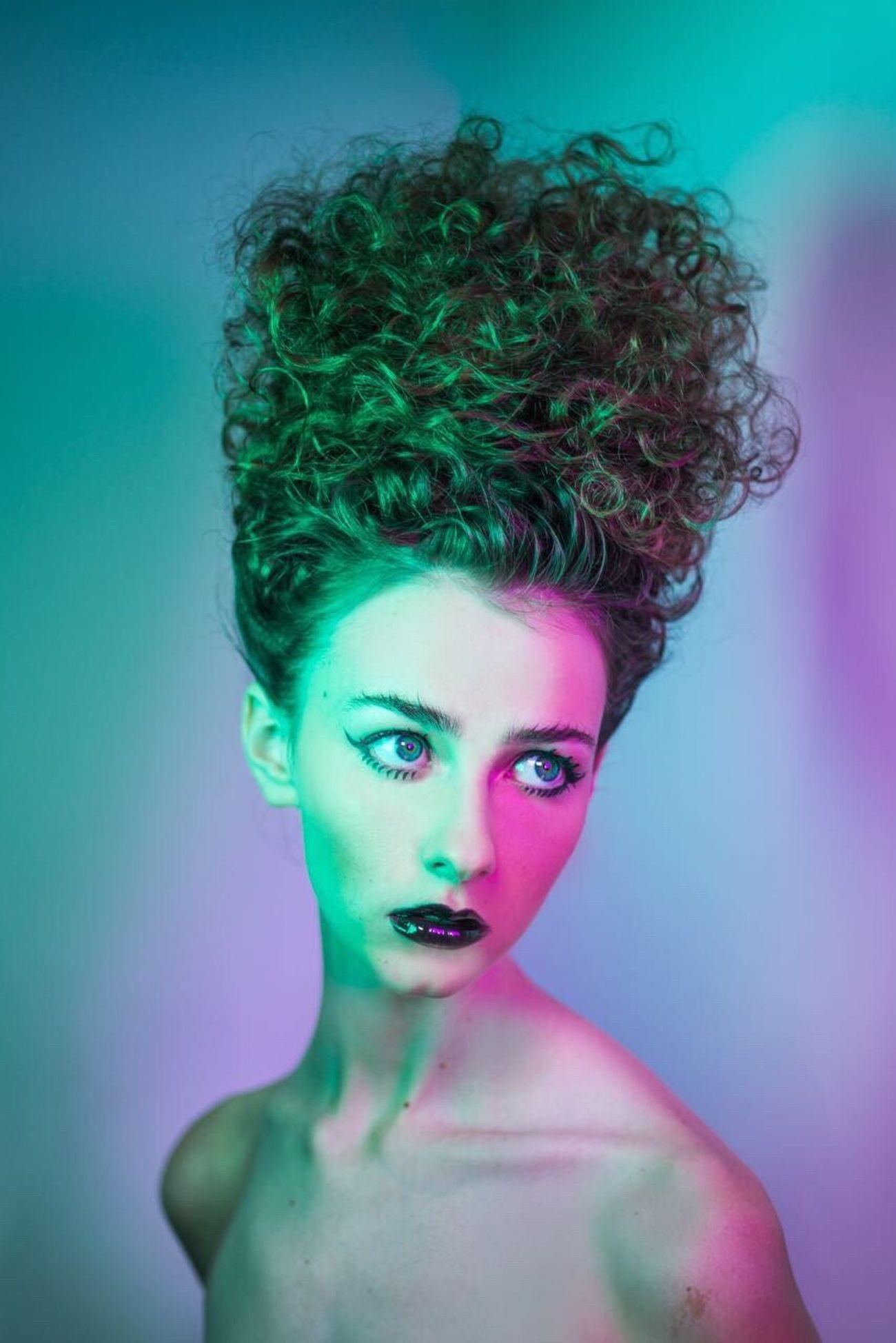 Studio Shot Portrait Fashion Only Women Beautiful Woman Make-up Young Women Curly Hair This Week On Eyeem TheWeekOnEyeEM BYOPaper!