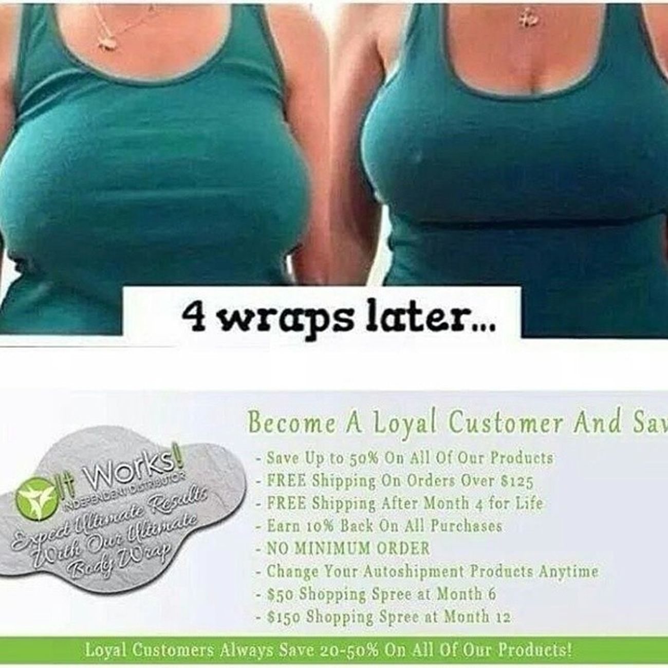 ItWorks Wraps truly help! No surgery! All natural! For a better and a healthier you! Message me! Itworks Crazywrapthing Crazywrap Didntexpectresults sag lift tightened toned firm tone tighten nomoresag perky natural wrap wraps itworkswraps thatcrazywrapthing lc loyalcustomer booblift savemoney wraptreatment