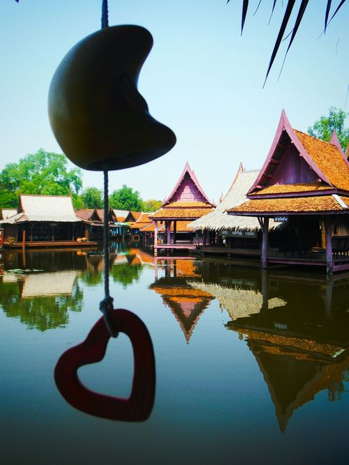 Tranquility Reflection Water Architecture Floatingvillage Floating House Floating Houses Travel Destinations Asian Culture Asianlife Thai Life Explore Asia Thailand Travel Thailand Travel Thailand Floating Village Explore Thailand River Thai Village Heart Heart Shape Love Thailand Love Asia Love Heart Shaped