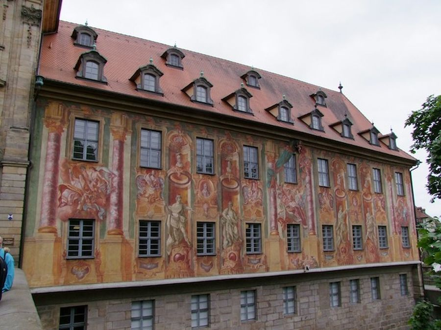 Old Town Hall, Bamburg Architecture Art Bambu Building Exterior Built Structure Close Up Composition Culture Day Exterior Façade Full Frame German Germany Historic History Mural No People Old Outdoors Tourism Town Hall Travel. Urban Window