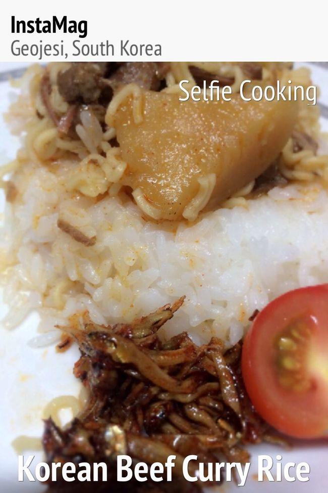 Enjoying A Meal Selfie cooking Korean Curry Beef Rice