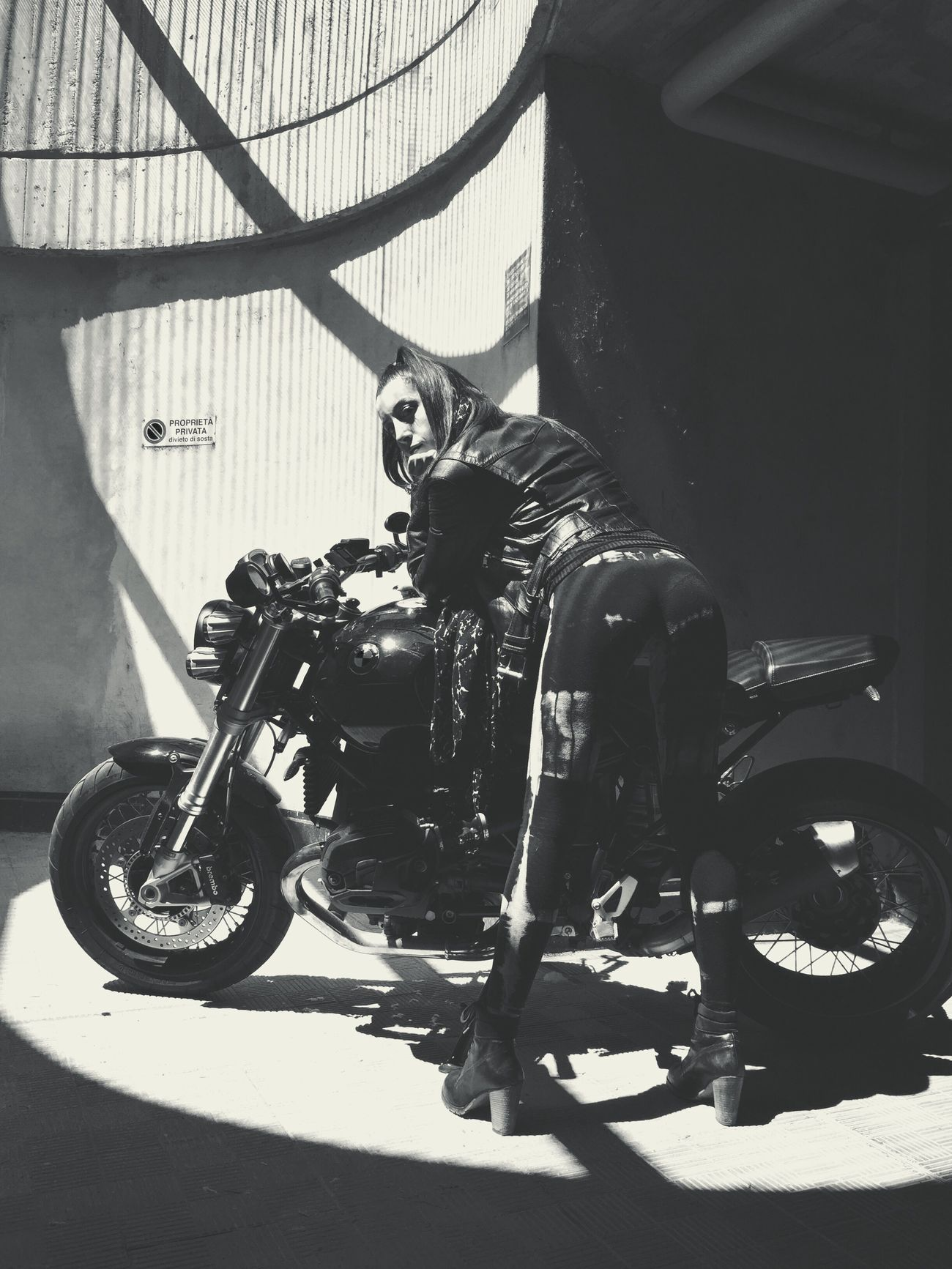 Poser Lina My Love Poser ❤ PoserPics Fake Biker Girl Black And White Black And White Photography Black And White Portrait Female Portraits Portrait Of A Woman Strongwoman