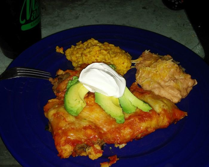 Cooked up some beef enchiladas for my awesome Man tonight!