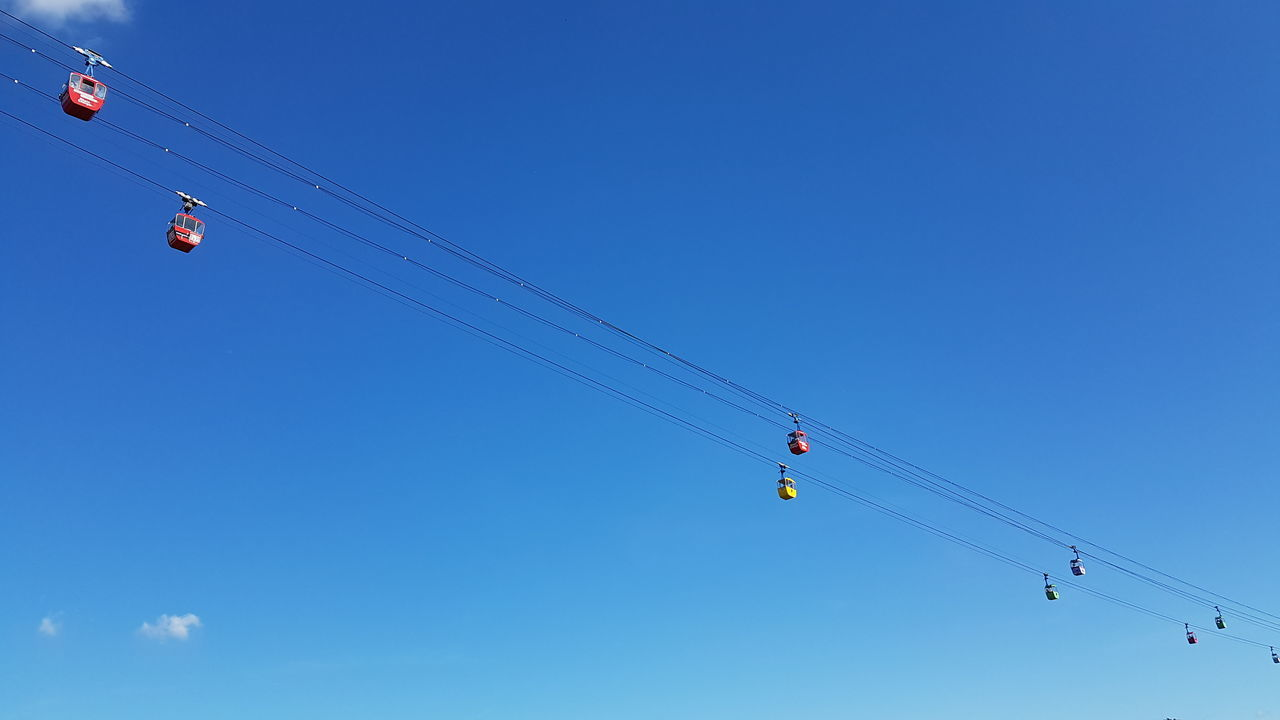 FlyingCologne Sky Blue Outdoors Clear Sky Ropeway Cable Car Cologne Summer ☀ Contrast Mode Of Transport