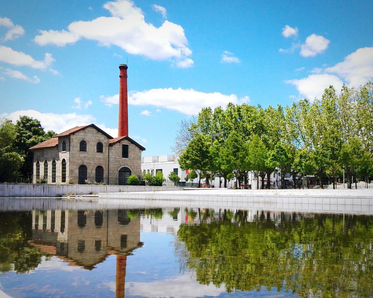 Espelhodagua Viseu Portugal Sky Cloud Water Reflex