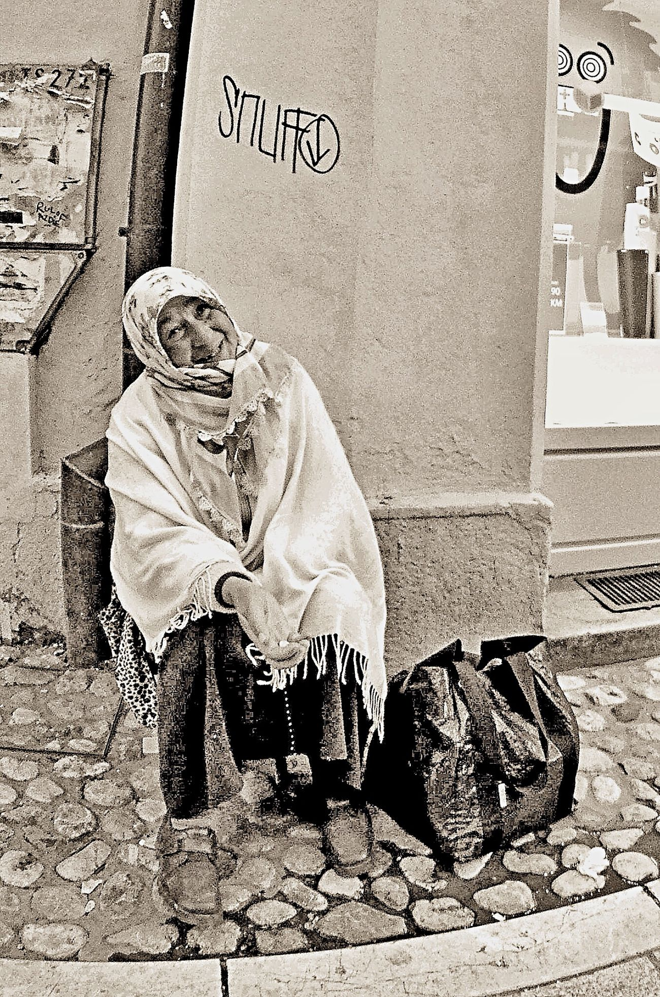 Sarajevo beggar Streetphotography Eye4photography  Eye4black&white  Streetphoto_bw