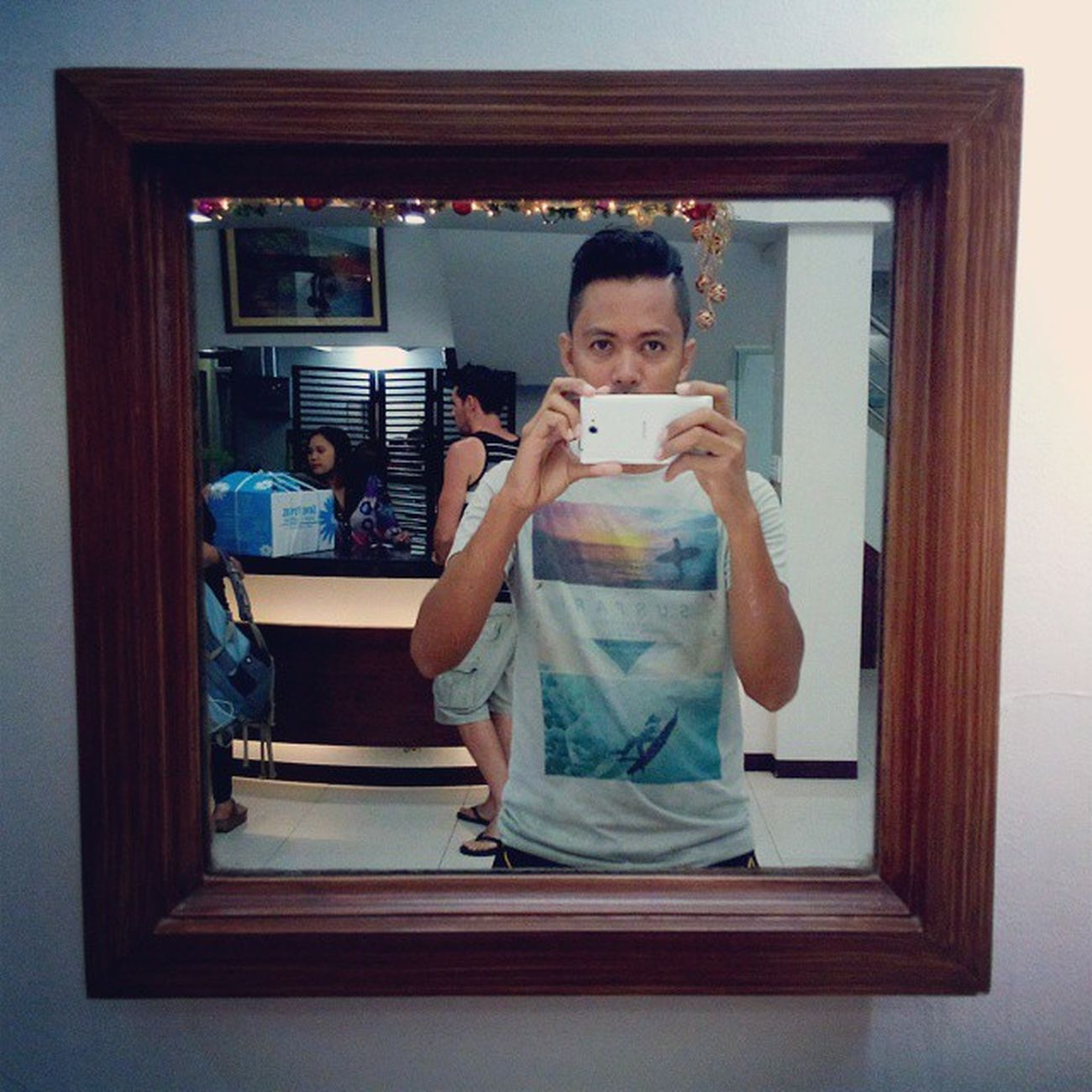 Mirrors! Done with Mocking Jay, ate balut and tempura, driving in the rain again and back to our room. Tiptop Balut Tempura QueeniePH Dumaguete