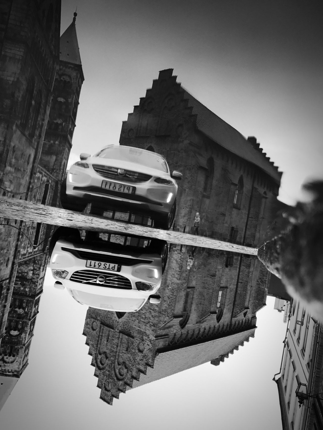 Low Angle View Building Exterior Outdoors Monochrome Black And White Street Photography Bw_collection Reflection