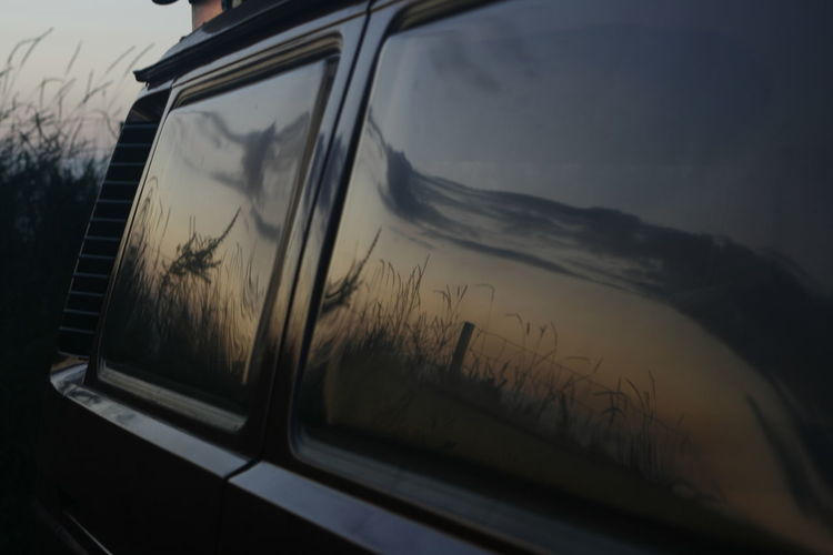 Reflection VW Bulli T3 BJ 1989 VW Bus Campinglife Nature Outdoors Sky Sunset
