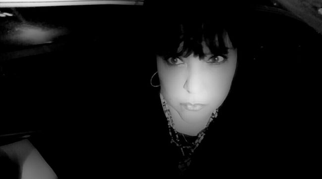 TakeoverContrast Monochrome Photography Overnight Success Light In The Darkness Woman Of EyeEm Portrait Of A Woman Dramatic Angles Creative Light And Shadow Womens Portraiture Women Who Inspire You Me Night Shot Looking At Camera Directly  Straight Ahead FaceShot Hidden Beauty Looking At You ~