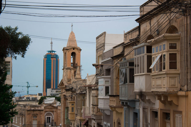 Architecture Building Exterior Built Structure History Malta No People Oldmeetsmodern Oldmeetsnew Outdoors Photography Place Of Worship Religion Skyscraper Spirituality