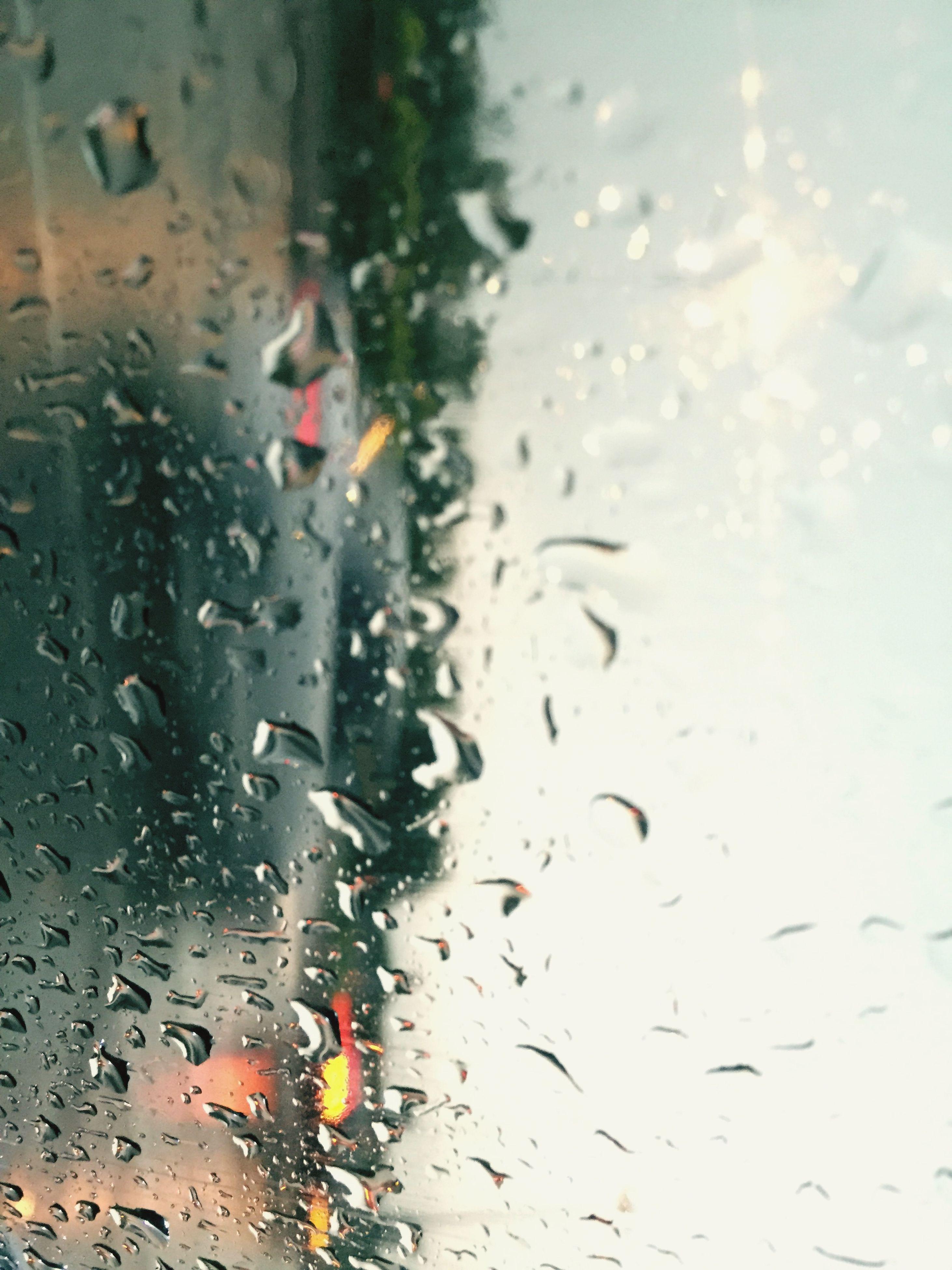 wet, drop, rain, water, window, weather, season, transparent, glass - material, transportation, raindrop, car, monsoon, mode of transport, land vehicle, street, indoors, sky, road, glass