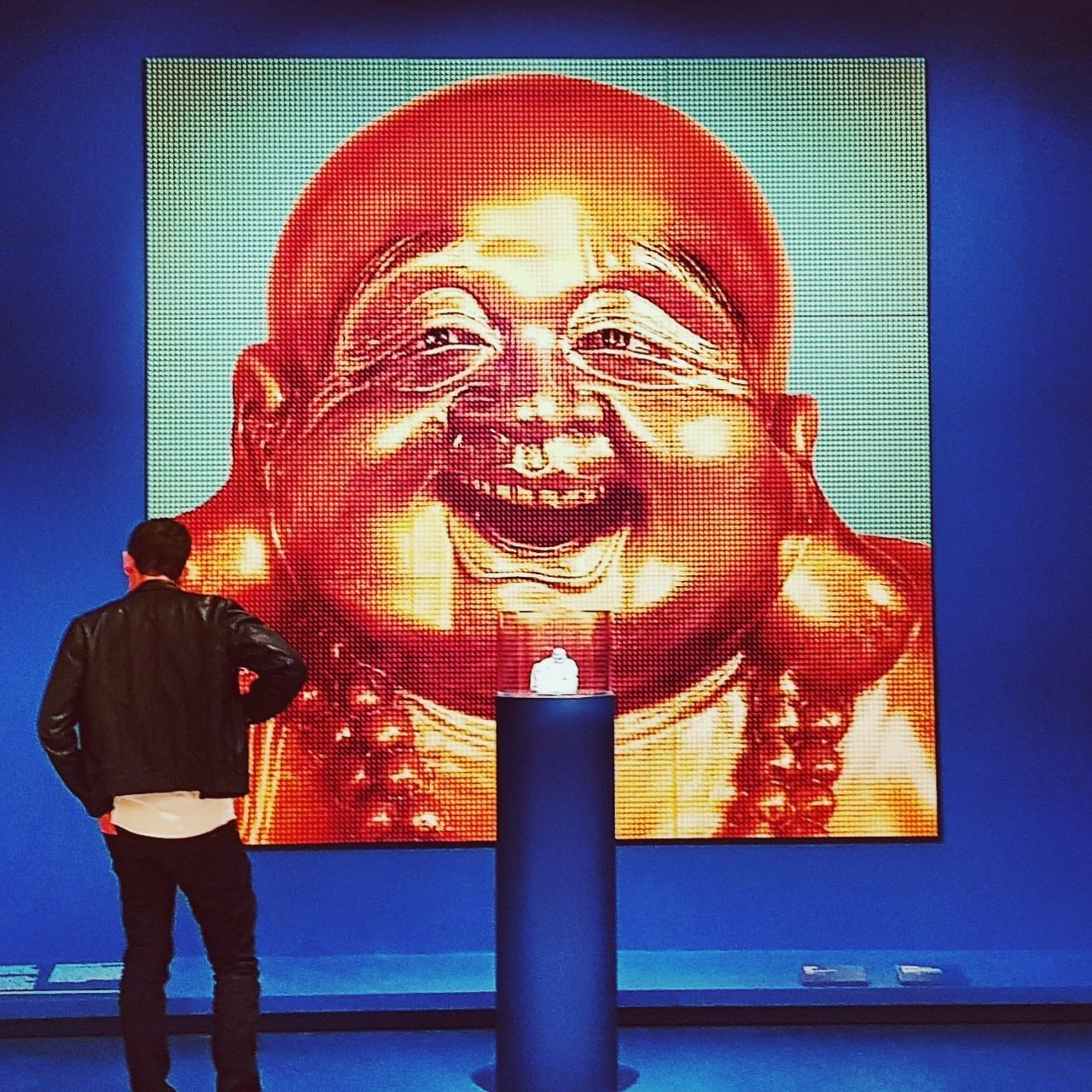 Buddha One Man Only Exhibition Art Gallery Art One Person Standing