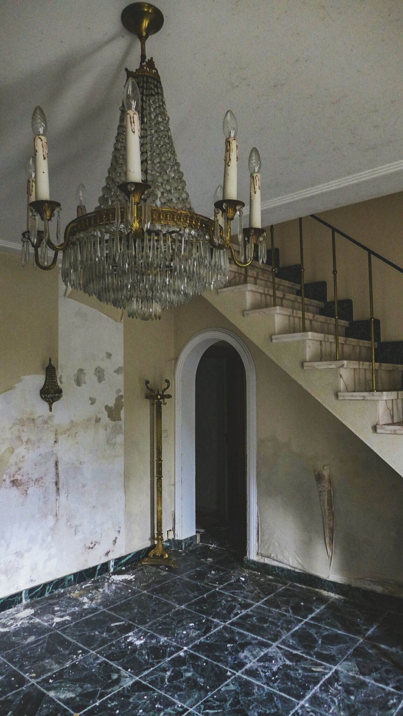 History Travel Destinations Architecture No People Day Abandoned Places Decay Urbexexplorer Urbexworld Urbexphotography Creativity Photography Abandoned Old Photograph Urbex Discovering Traveling Live For The Story Abandonedporn Home Interior Luxury Chandelier Chandelier Crystals Indoors