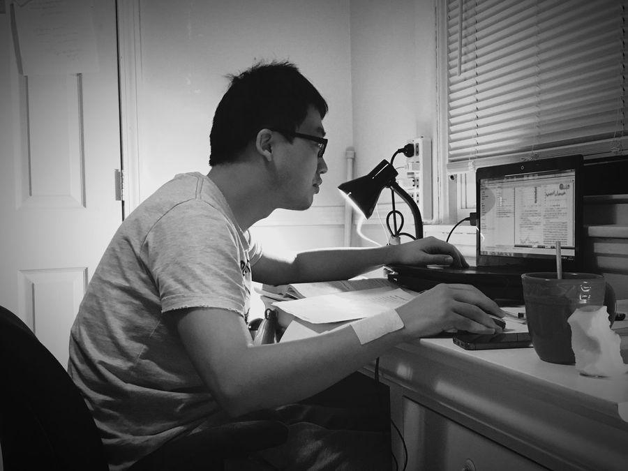 Hardworking in the night Hardworkingman