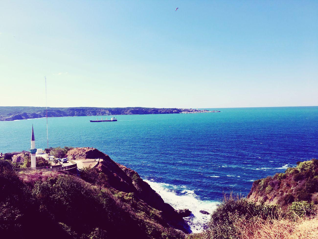 Old Phone Photo Sea Blue Scenics Outdoors Coastline Rock Formation Day Shore Nature