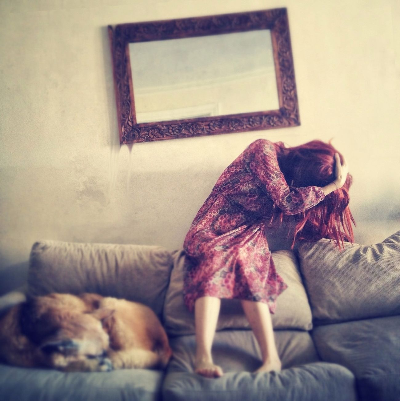 Girl and dog, part two.