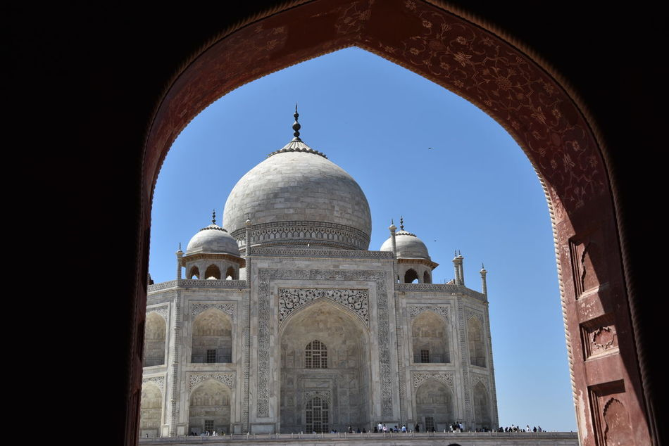Taj Mahal Taj Mahal, Agra Architectural Feature Monument Travel Destinations Tranquility Buildings & Sky Architecture_collection Building Exterior Architecture Clouds & Sky Travel Architecture Dome History Arch City Sky No People Outdoors Day Traveling Travel Photography Tourism Vacations