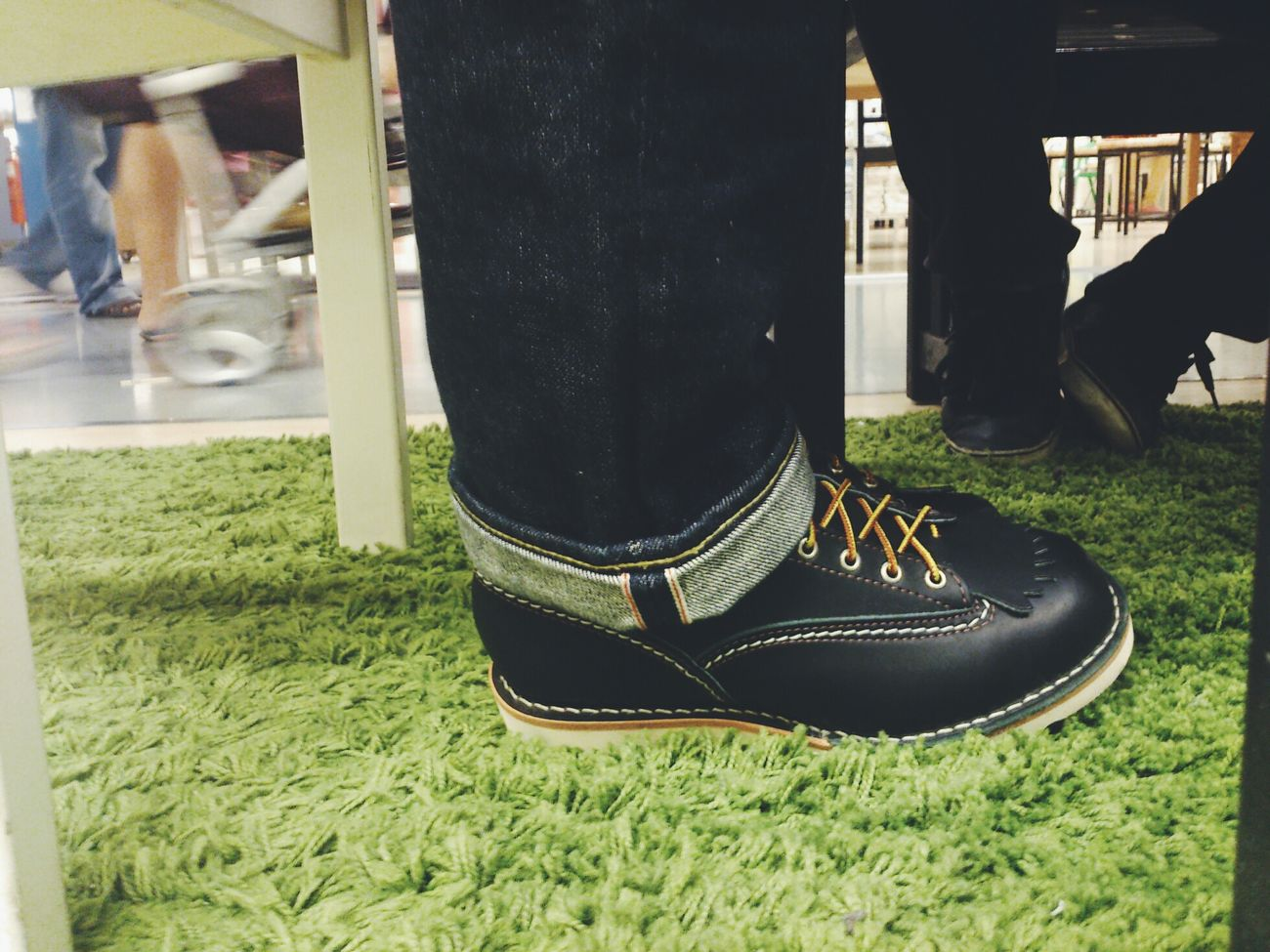 Iron Heart Wesco Boot Selvedge Raw Denim