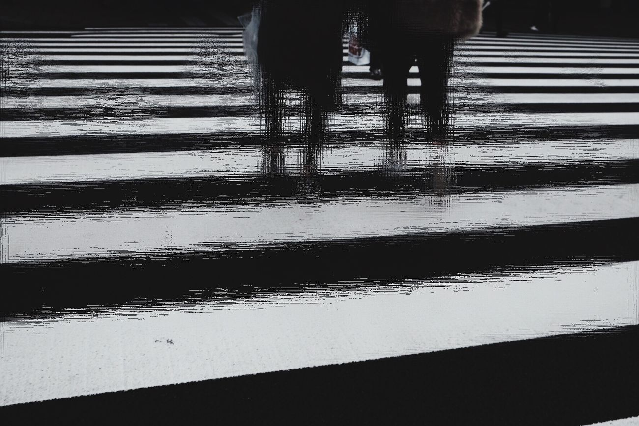 Blackandwhite Light And Shadow Street Photography People Watching Iphonephotography Real People Foot Japan Blurred Motion