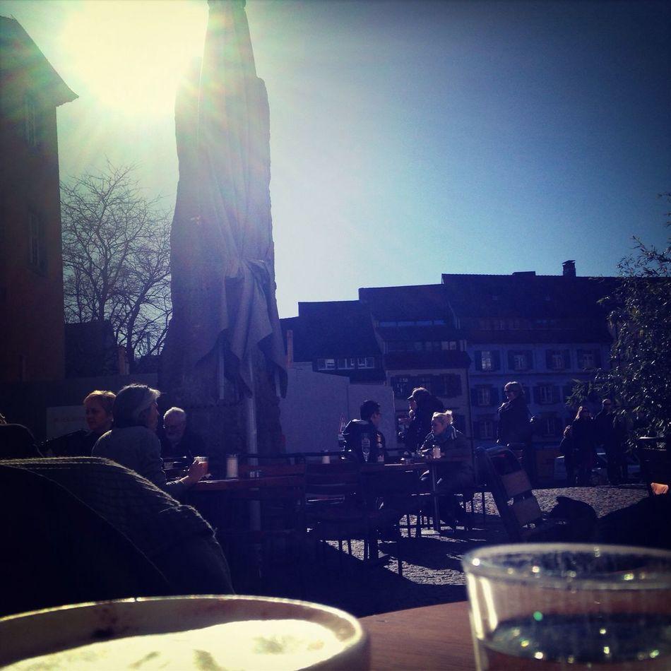 Cappucino Freiburg Enjoying The Sun Hanging Out